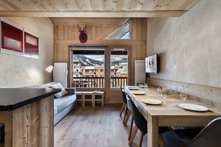 Pierre et Vacances 210 :  Renovated duplex in residence with swimming pool and sauna
