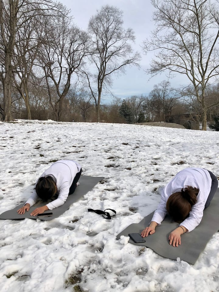 Yoga is wonderful in all weather!