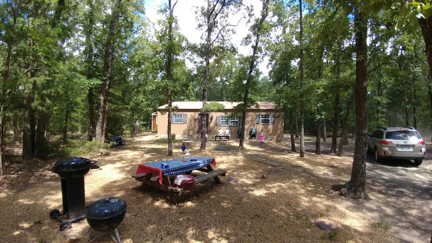 A cozy cabin in the woods on 4 acres. 1100 Sq. Ft.