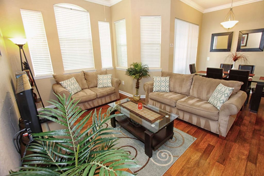 Comfortable Living Area w/Cable TV, Game Console, Sound Bar & Full Size Sofa Sleeper