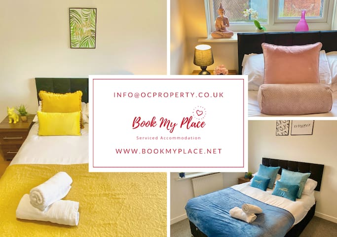 ⭐️ 3-bed townhouse & parking *deep cleaned*