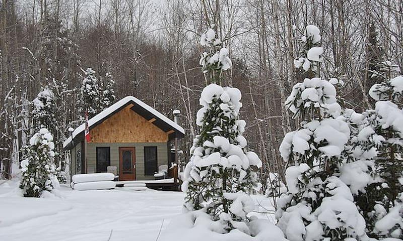 Le Calumet, rustic off-grid cabin - Québec - Hytte (i sveitsisk stil)