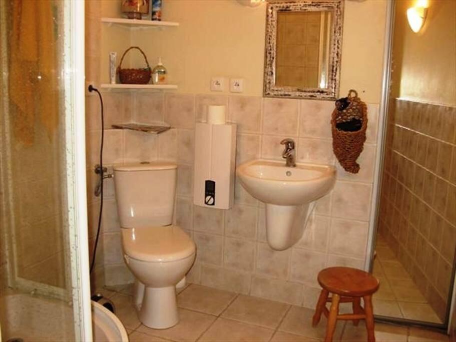 Łazienka z wc, prysznic
