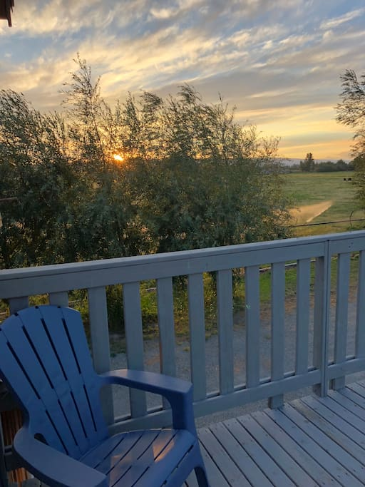 Westerly view from Airbnb deck.