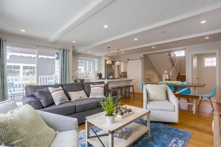 Coastal Modern Luxury Home with A/C, Large Garage, Walk to All!