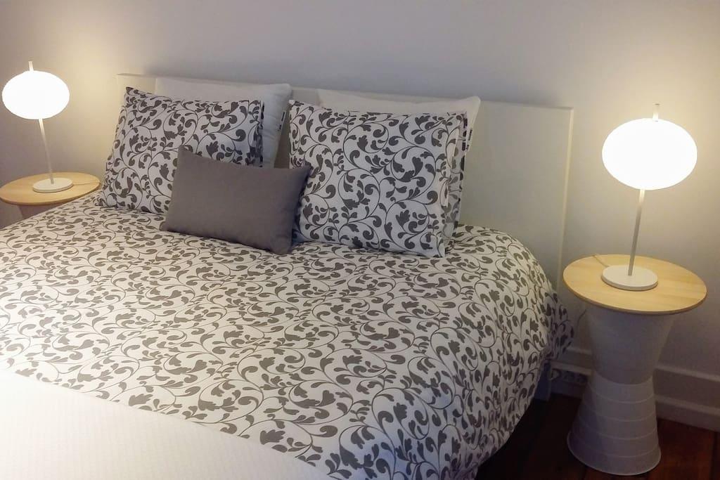 Bedroom @ Sunny Lisbon Apartment