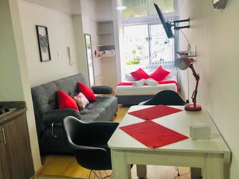 Lindo y confortable apto tipo loft Av. Santander