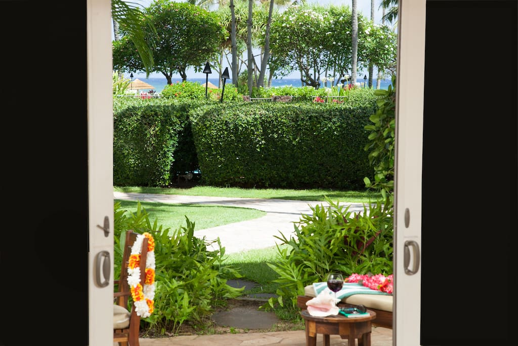 Partial ocean view from Lanai, Living and Dining Room, Kitchen & Master Bedroom