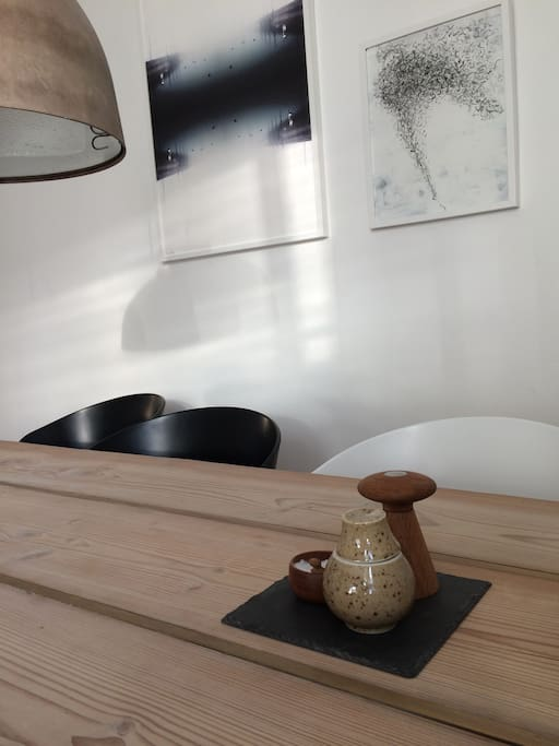 Our rustic, handcrafted, danish design diningtable