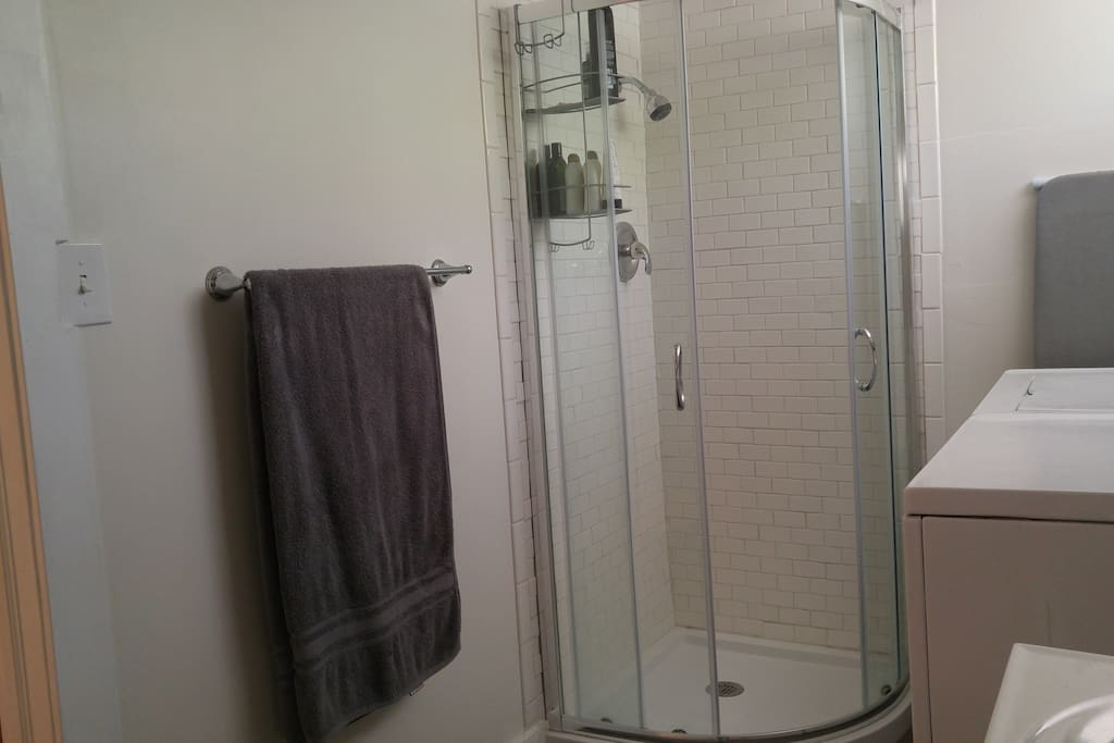 Included shower is not used by residents.