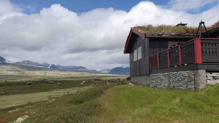 Hytte med panoramautsikt til Rondane