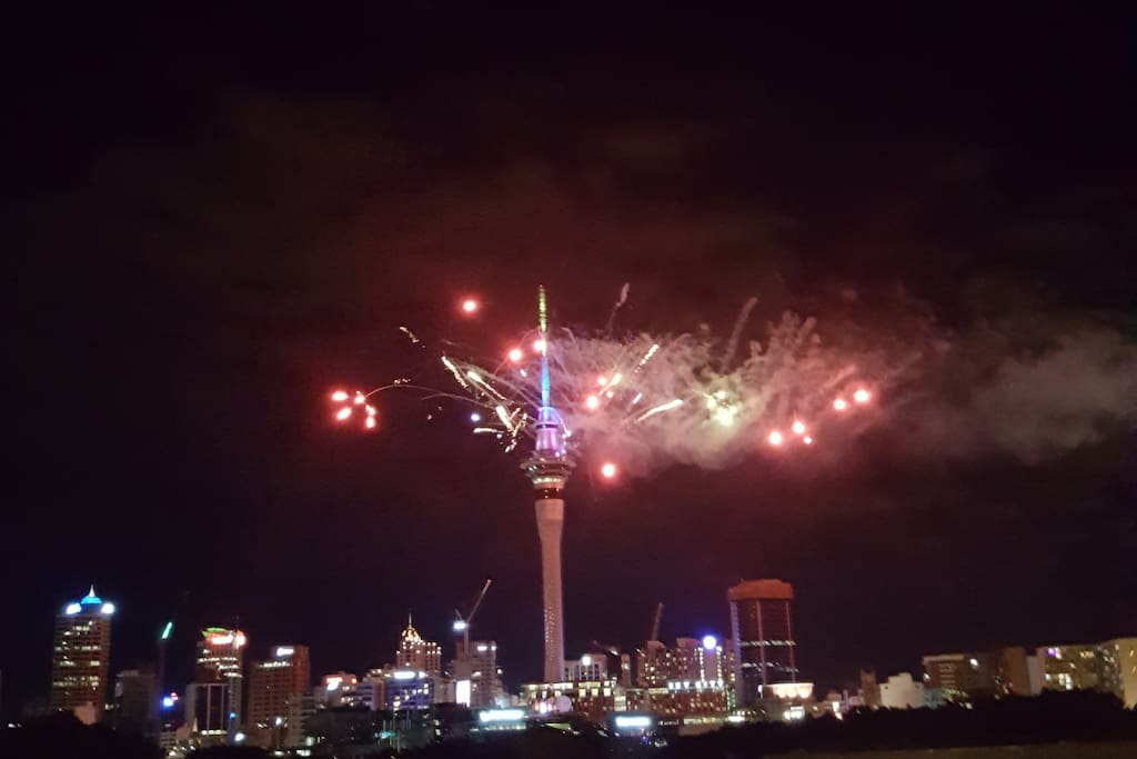 New Years firework display from the apartment