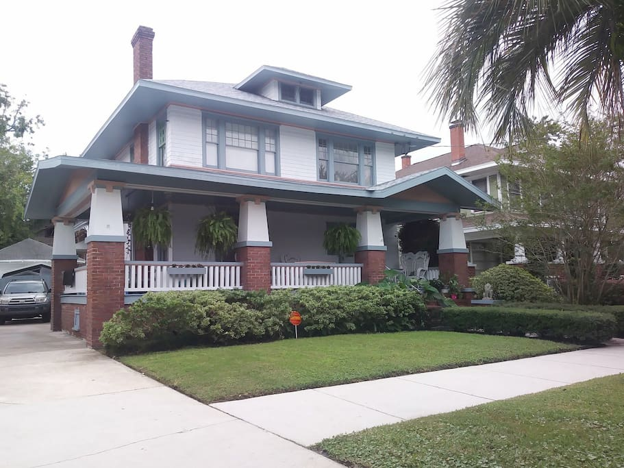 Built in the early 1900's, this charming prairie style home is located in the Riverside Historic district.