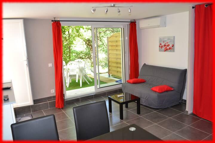 STUDIO 2/3 Pers COTE D'AZUR au calme Cannes/Grasse - Mouans-Sartoux - Apartamento