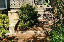 Enjoy access to the shaded deck and patio