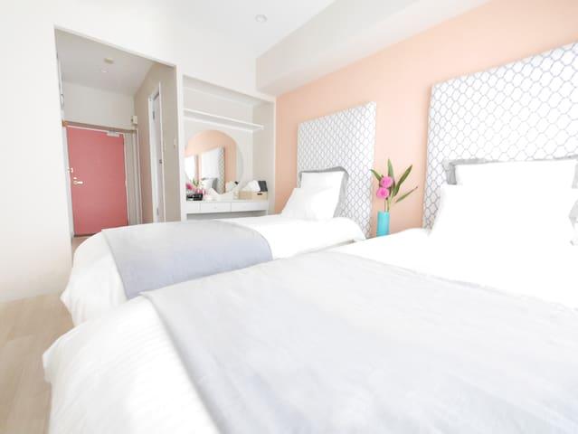 (NEW!!) Cheap&Clean room! 2 beds!!!! - 京都市 - Leilighet