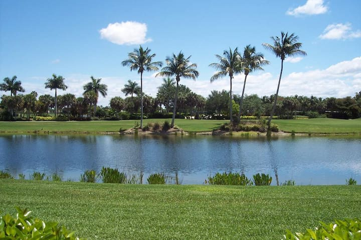 Gorgeous View of Lake and Golf Course