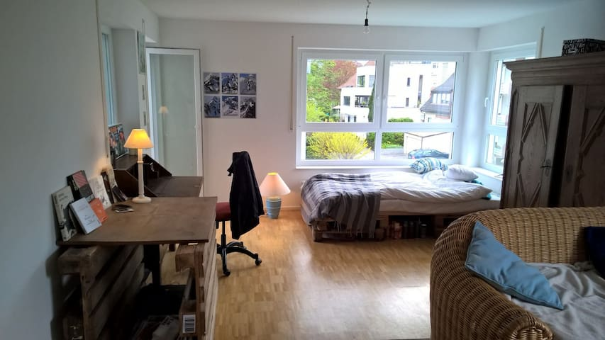 Bright, 30sqm Room in shared flat with balcony - Friedrichshafen - Apartmen