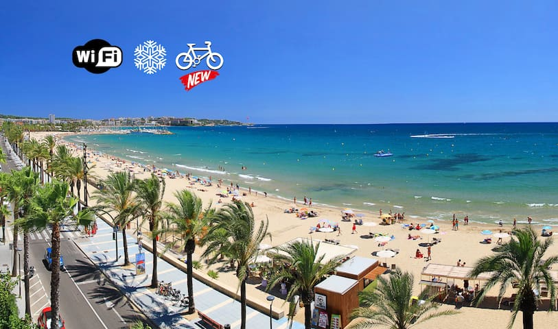 Sea view of Salou's central beach