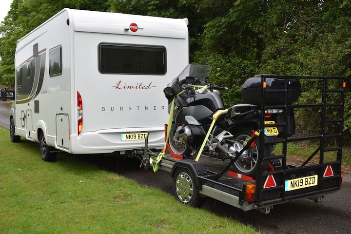 Ultimate Touring Pack, Luxury Motorhome + BMW Bike