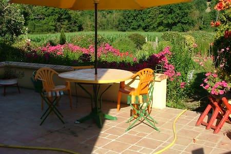 La Chambre Verte dans ma Maison avec Jardin - Mondoubleau - 独立屋