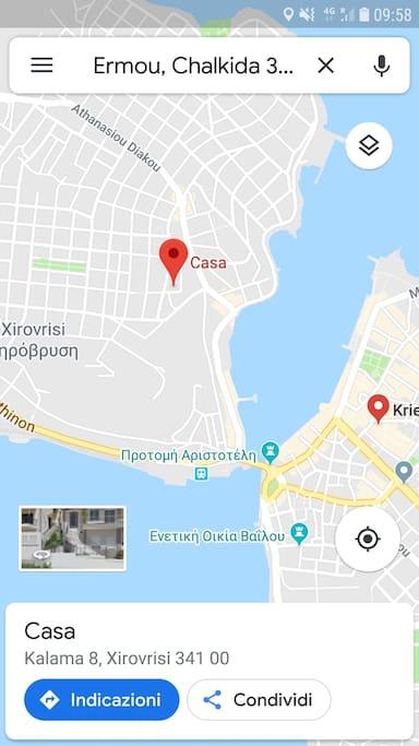 L' ubicazione dell' appartamento