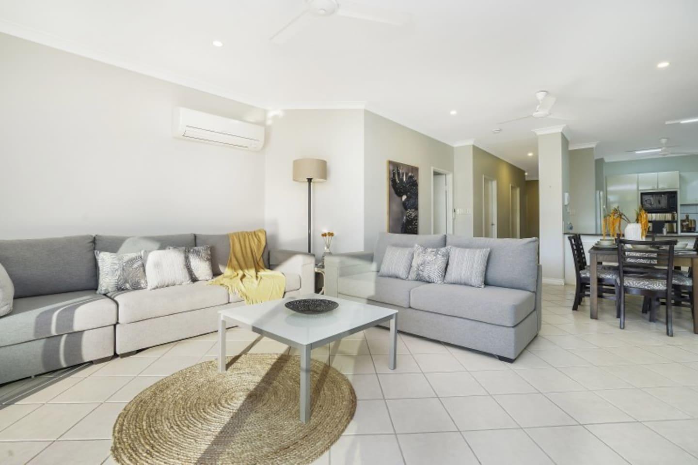 Modern decor and spacious lounge area