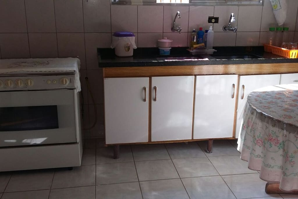 Cozinha interna da casa