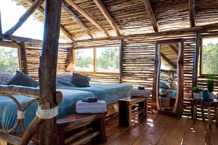 Amazing Big Cabaña INSIDE Mayan Animal Sanctuary!
