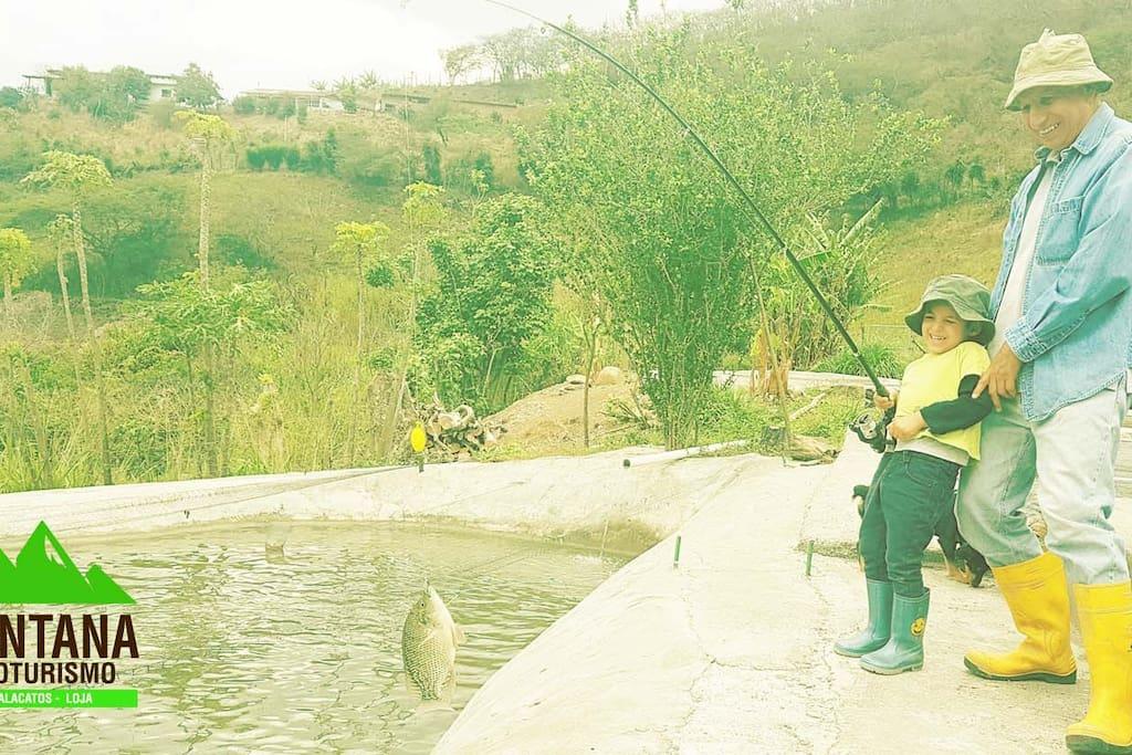 Sport Fishing in Santana Ecotourism. Free for our guests !!  Pesca Deportiva en Santana Ecoturismo. Gratis para nuestros huéspedes!!