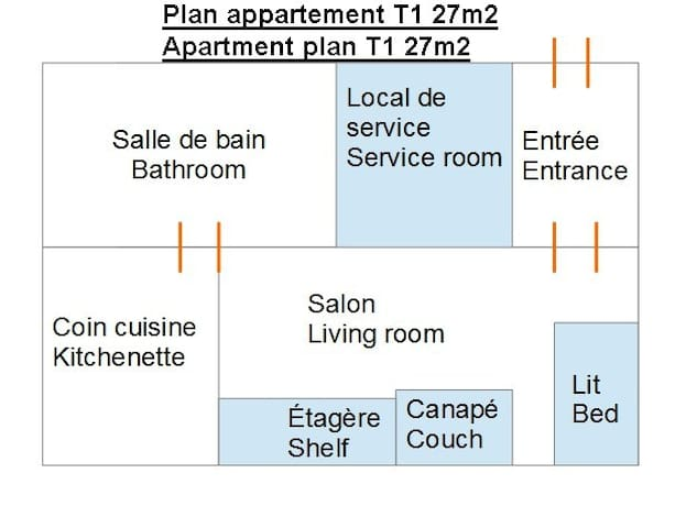 T2 apartment (city of Oullins)