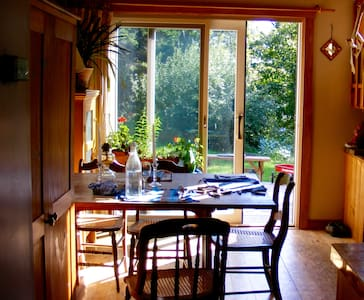 Passive solar home , cozy and open! - House