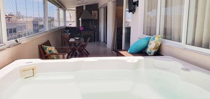Lindo apartamento tipo cobertura  com jacuzzi