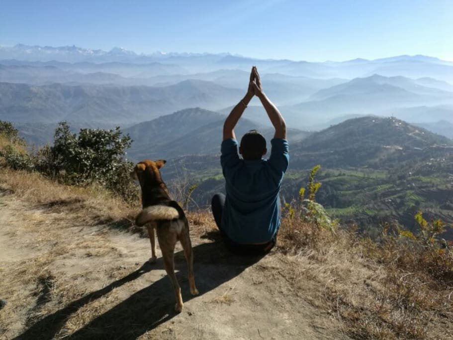 Nagarkot Himalayan view yoga retreat