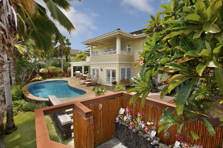 Golf course front, Home, Sunsets, Luxury, Plantation Cottage at Poipu