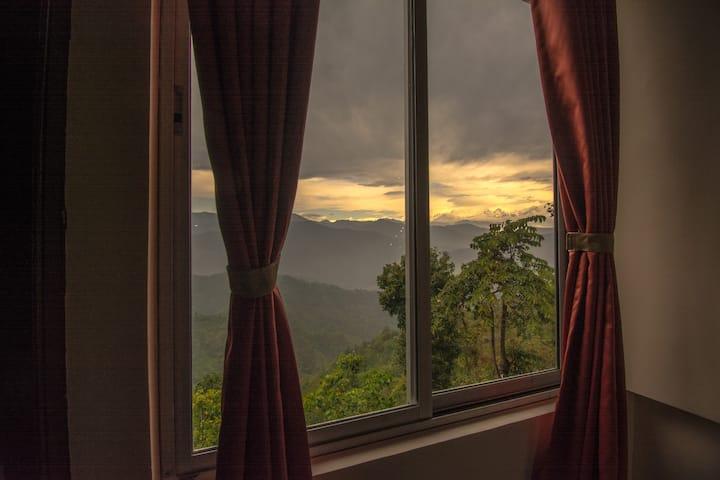 Deluxe Family Room | Tea Garden | Himalayan view