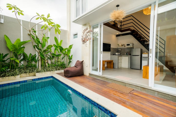 ❂ 1BR Loft Suite with Private Pool in Canggu