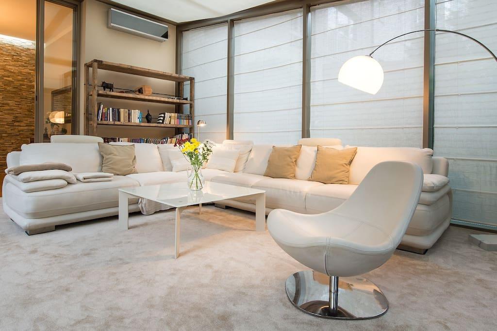 Living room in the winter garden