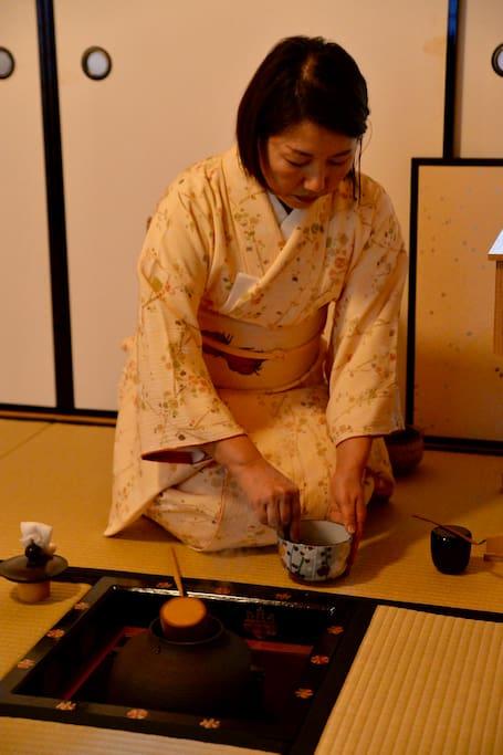 Tea ceremony lesson