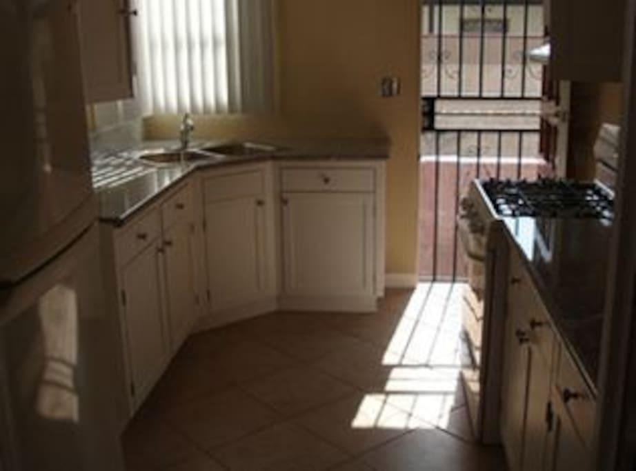 Kitchen - Door Leads to Back Patio