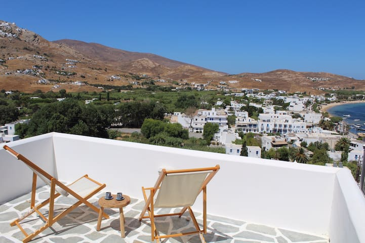 TWO TERRACE BEACH HOUSE WITH BEST VIEW ON SERIFOS