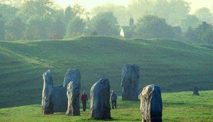Avebury Stone circles. Free to walk close and touch. A good day out. Fabulous day out visit Avebury manor house with 1930s tea rooms, picnic on the beautiful gardens.