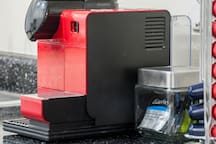 Nepresso coffee maker for luxury quality style espresso and latte.