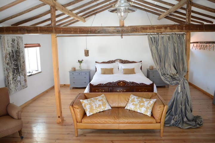 Cottage Bedroom and lounge area