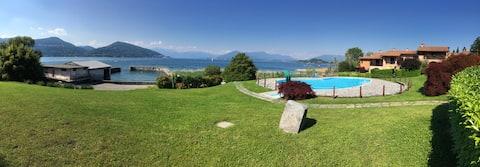 Lake view pool apartment