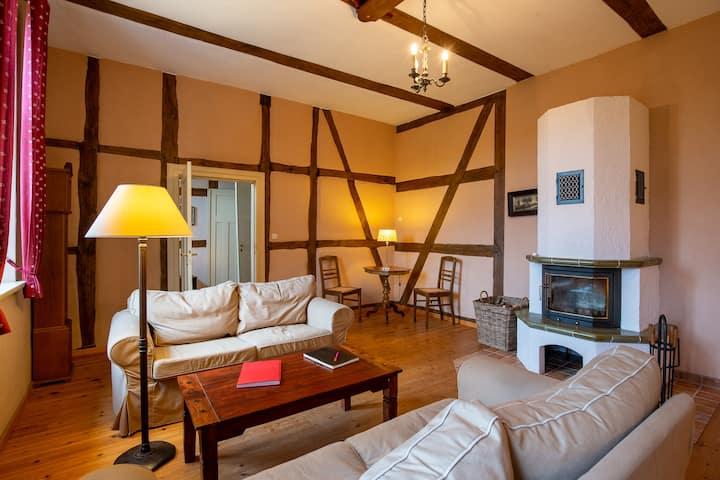 Schöne Wohnung Hohenbollentin in altem Pastorat