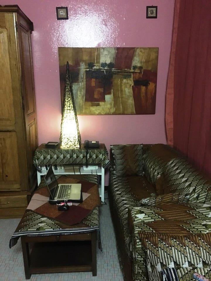 Chambre - coin salon