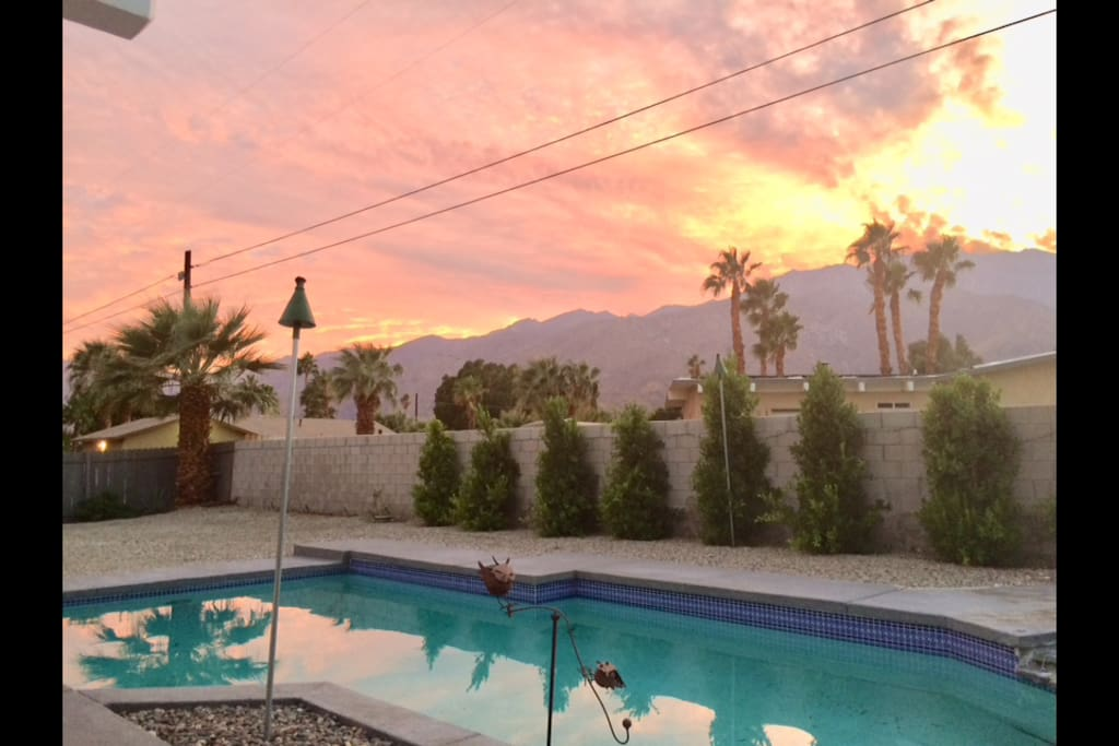 Pool (salt water) nearing sunset....