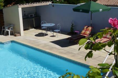 Logement indépendant piscine.Entre mer et Montagne - Villevieille - Ház