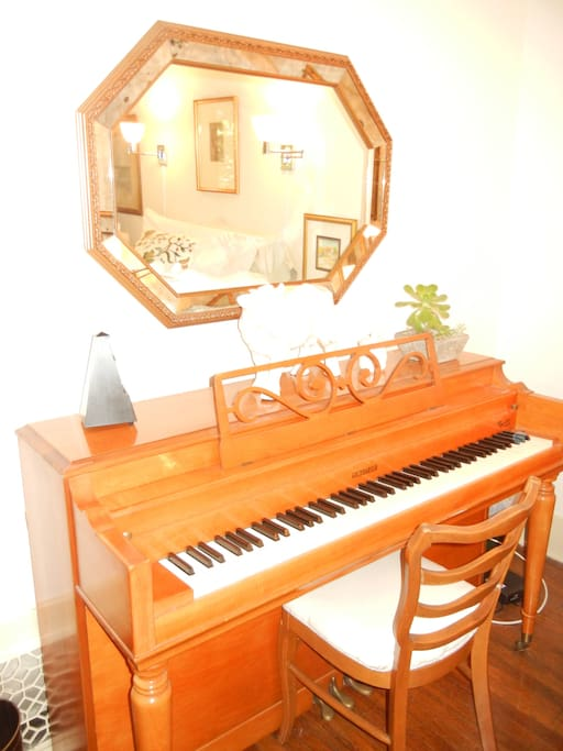 Piano and easy play music in your room for your enjoyment.